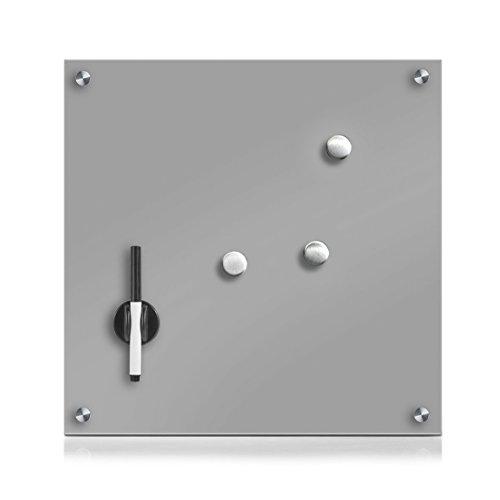 zeller-11665-tableau-memo-verre-gris-40-x-40-x-3-cm