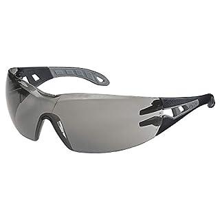 Uvex Pheos S Schutzbrille - Supravision Extreme - Getönt/Schwarz-Grau