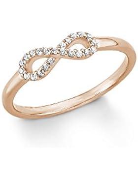 s.Oliver Damen-Ring Zirkonia rhodiniert 925 Silber weiß, 566957