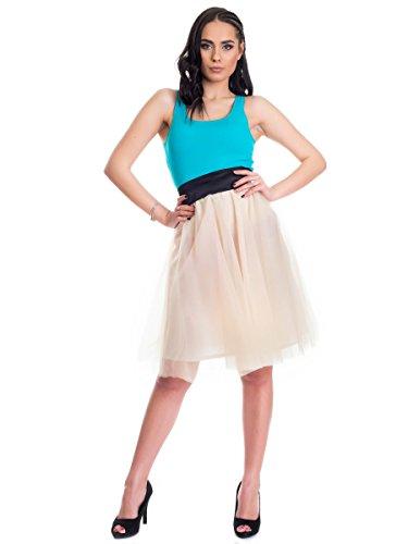Evoni Damen Stringbody   Bodysuit für Frauen   Stringbody mit breiten Trägern in verschiedenen Farben mit Verschluss im Schritt   schulterfreier Stretch-Overall mit Rundhals Pink