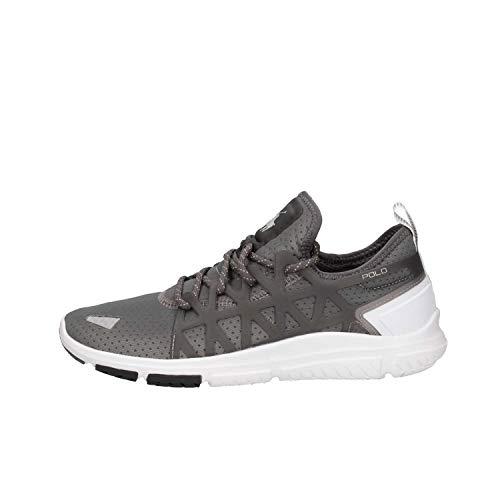 Ralph Lauren Herren Charcoal Grau/Weiß Train 200 Sneakers-UK 10