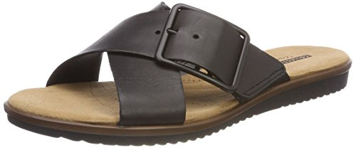 Clarks Damen Kele Heather Offene Sandalen, Schwarz (Black Leather), 40 EU