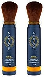 Brush On Block Mineral Powder Suncreen Self Dispensing Brush SPF30 - 2 x 3.4g Pack