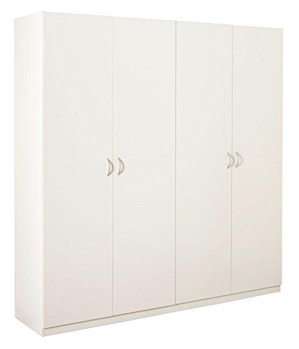 Composad armadio quattro ante battenti color bianco