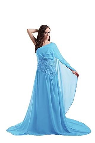Bridal_Mall - Robe - Trapèze - Sans Manche - Femme - bleu - 46