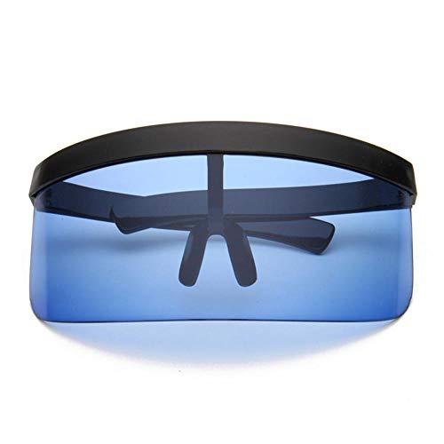 ANSKT Fahrradbrille, Einteilige personalisierte Anti-Peeping-Masken-Sonnenbrille, Trendige Sonnenbrille mit großem Kasten und Hut @ 3