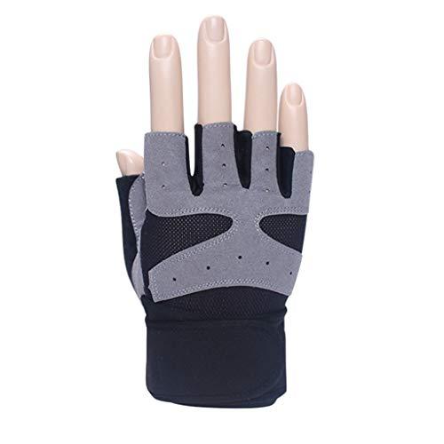 Guanti guanti mezze dita guanti da palestra mezzi sportivi uomo e donna attrezzatura sportiva allenamento polsini con scivolo guanti mezze dita sottili estivi traspiranti alpinismo da esterno guanti d