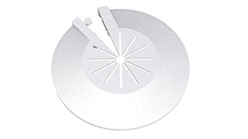 FamousBath® Lot de 8 rosaces pour radiateur | Cache-tuyau | rosace à clapet en plastique pour diamètres de 8 à 22 mm | montage ultrarapide