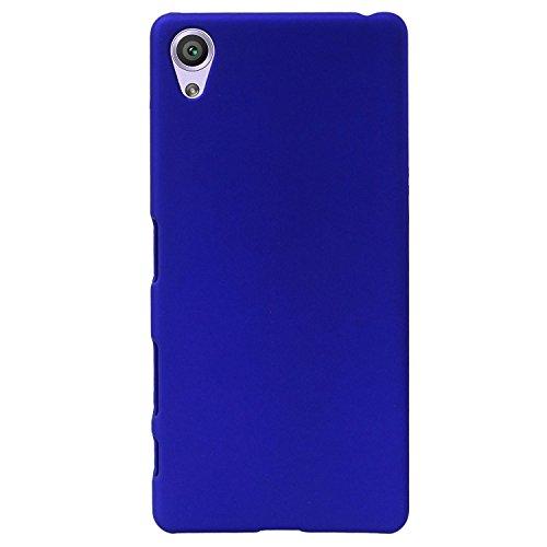 Johra For Vivo Y51L Back Cover, Slim Matte Finish Rubberized Dark Blue Hard Back Case Cover for Vivo Y51L Back Cover