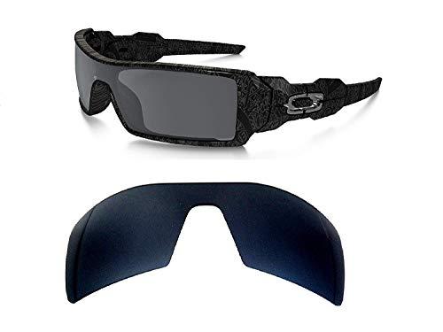 galaxylense Herren Ersatzgläser für Oakley Oil Rig Sonnenbrille Schwarz Polarisiert