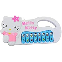Naksh Toys & Gift Small Hello Kitty Battery Operated Musical Piano Toy for Baby (Multicolour)
