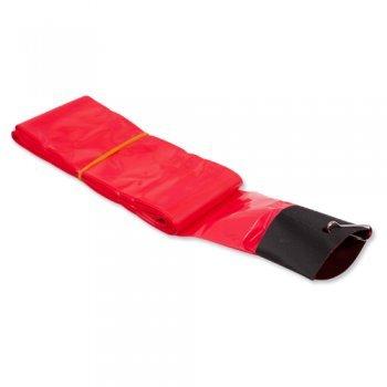 Drachen Zubehör - Schlauchschwanz PE Red - für Lenkdrachen - Länge: 12m - inkl. Clip zur Befestigung (Red)