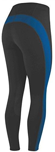 irideon Apex Strumpfhosen, Black/cobalt - Irideon Riding Hose