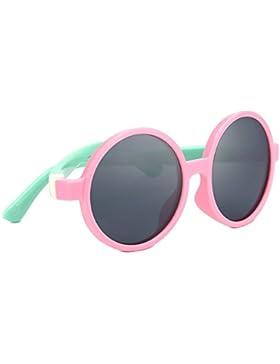 Tijn niños TODDLER Round gafas de sol polarizadas de goma Flexiable Navidad regalos para niña niños