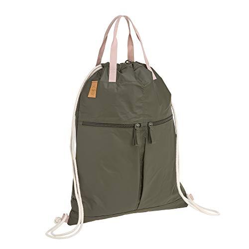 LÄSSIG Rucksack Turnbeutel mit Zugband/Green Label Tyve String bag, olive