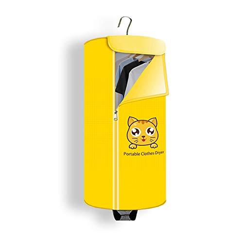 Séchoir Portable Petit Format Dortoir Séchoir Électrique,Peut Être Ajouté Aux Huiles Essentielles,Yellow