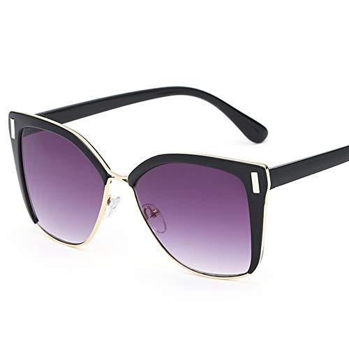 LIUYIAO Sonnenbrillen Damenmode Sonnenbrillen Square Street UV-Schutz Small Face Sonnenbrillen,Purple
