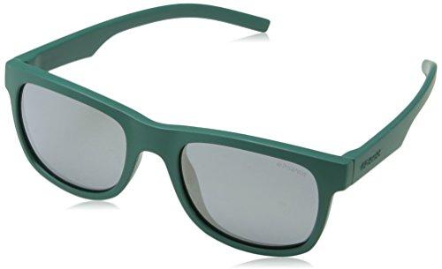 Polaroid Unisex-Kinder PLD 8020/S LM VWA Sonnenbrille, Grün (Green/Grey Goldmir Pz), 46