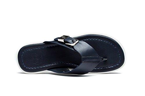 OPP Homme Sandales de la Mode Chaussures en Cuir 2016 Nouvelle Collection Blue-4