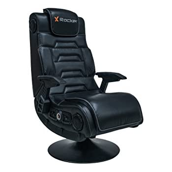 Terrific X Rocker Pro 4 1 Pedestal Gaming Chair With 4 1 Wireless Audio System And Subwoofer Faux Leather Black Beatyapartments Chair Design Images Beatyapartmentscom
