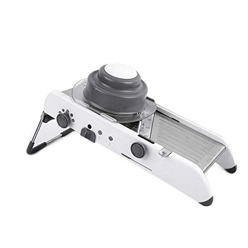 Mandoline Cutter (ieenay Gemüsehobel Mandoline Slicer Manual Vegetable Cutter Professional Grater with Adjustable Blades Kartoffelschneider Multifunktionaler Gemüseschneider Früchte Küchenzubehör,Edelstahl)