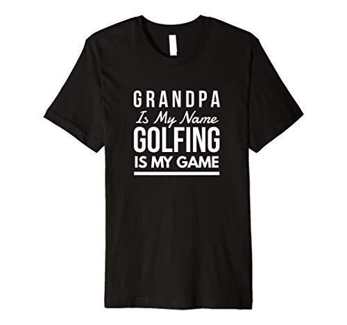 Herren Herren Opa ist My Name Golfen ist das Spiel Neuheit T-Shirt