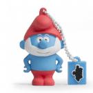 Tribe Los Pitufos Pitufa - Memoria USB 2.0 de 8 GB Pendrive Flash Drive de goma con llavero, color azul