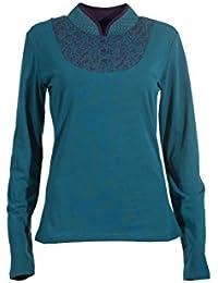 Coline - Tee shirt manches longues effet plastron