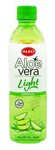 ALEO Aloe-Vera-Erfrischungsgetränk mit Aloe Vera-Stückchen Aleo Light Original 12-er Pack (12X0,5L) inkl.Pfand