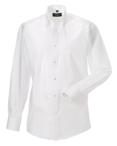 chemise-a-manches-longues-sans-repassage-russell-collection-pour-homme-tour-de-cou-39cm-blanc