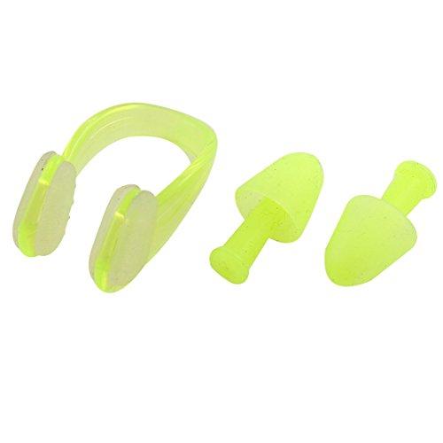 wasser-schwimmen-sport-beschutzer-weiche-ohrenstopsel-nasenklammer-gelb-2-in-1