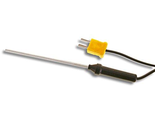 PeakTech Typ K Stabtemperaturfühler -50 °C bis 300 °C / Langer Temperaturfühler in 75 mm Stab-Bauform mit Kabellänge, 1 Stück, TF-55 -