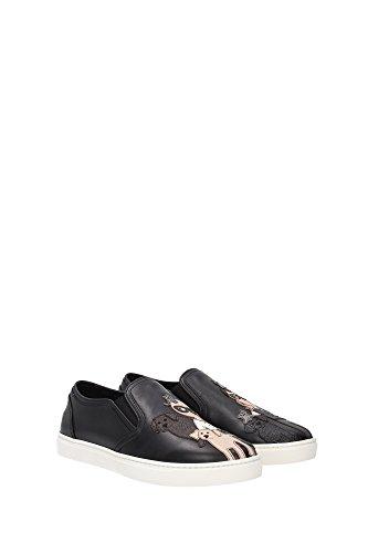 CK0028AE37580999 Dolce&Gabbana Sneakers Femme Cuir Noir Noir