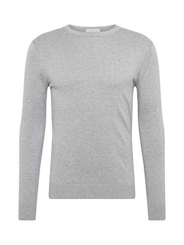 Scotch & Soda Herren NOS Cotton Cashmere Crewneck Knit Pullover, Grau (Grey Melange 970), Medium (Herstellergröße: M) - Melange Turtleneck