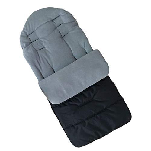 Kinderwagen Universal Fußsack Angenehm Warmes Toe Cover Winter Winddicht Wärme Schlafsack Baby Trolley Baumwolle Kissen Sitzauflage-Grau