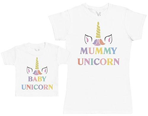 Baby Unicorn & Unicorn - Regalo para Madres y bebés en un Camiseta pa