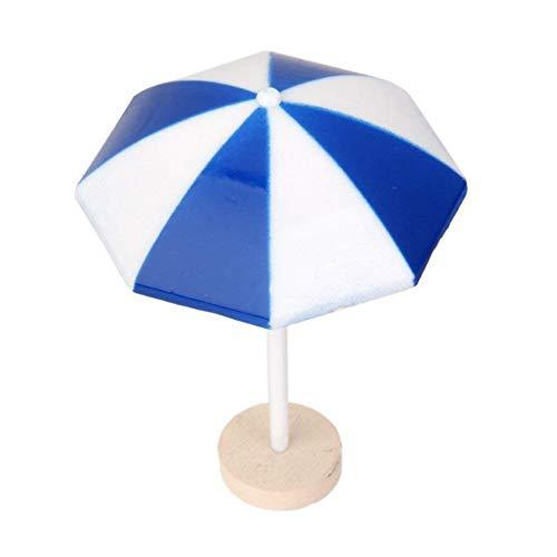 DDG EDMMS Mini Regenschirm Netter Landschaft Strand Sonnenschirm Miniatur-Landschaft Bonsai Craft Dekor M Größe Blau (Miniatur-sonnenschirm)