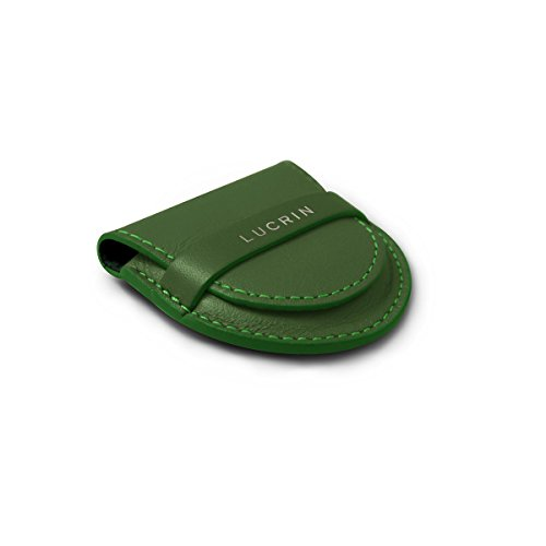 Lucrin - Taschenhalter - Glattleder Hellgrün