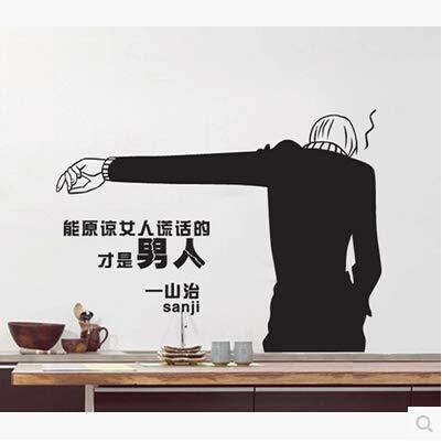 Shentop Sanji Home Outfit Wandaufkleber Anime Wand Stick TV Wandschmuck Wand Der Hintergrund des Kopfes eines Bett Schlafzimmer 80 * 58cm (Anime Outfit Ideen)