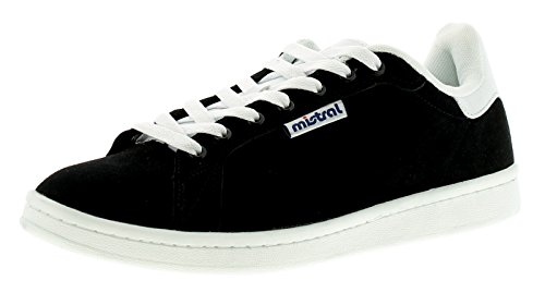 new-mens-gents-black-mistral-wesson-lace-ups-tennis-trainers-black-white-uk-size-6