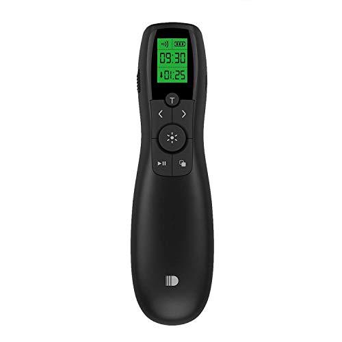 Demonstrator, Grüner Laser Mini Demonstrator Remote Powerpoint mit 2,4 GHz Pointer Wiederaufladbarer Wireless Remote Demo PPT Flip Pen ()