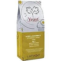 Lafood Acido Ascorbico Puro - Vitamina C - 1Kg - E300 - Alimentare -No OGM- Glutin Free