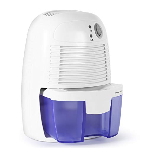 Deshumidificador-500ml Deshumidificador compacto silencioso, Secador de aire multimodo Absorbente de humedad para el hogar, cocina, dormitorio, caravana, oficina, sótano