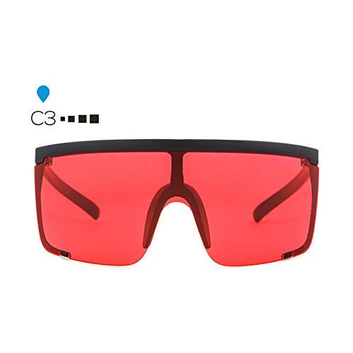 ZHENCHENYZ Übergroße Visier Shield Sonnenbrille Frauen Männer Marke Hood Goggles Big Flat Top Maske Sonnenbrille Shades