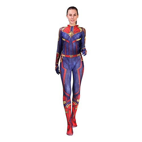 Film Kapitän Superheld Captain Bodysuit Jumpsuits Mvl Cosplay Kostüm Damen Serie 1 ()