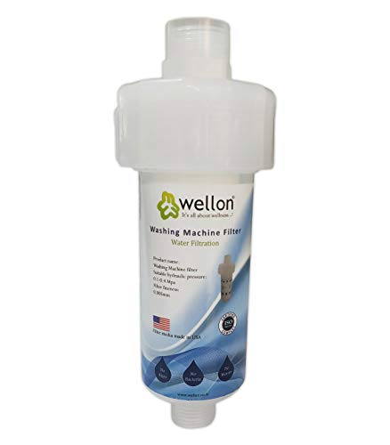 Wellon Washing Machine Filter for Hard Water Protection to Remove Hardness and Scaling for All Types of Washing Machine