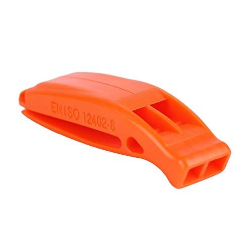 hte Nicht korrosive tragbare Outdoor Survival Rescue Notfall Kunststoff laut Pfeife mit eingebautem Clip ()