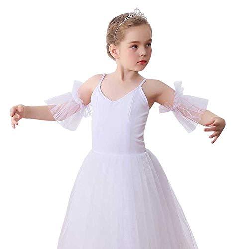Romantische Kostüm Ballett - YOUYE Neue weibliche Kinder Ballett-Ballettröckchen-Röcke Schwan-Weiß-romantische Art-langes Ballettröckchen-Ballett-Tanz-Kostüm-Ballerina-Kleid,120cm