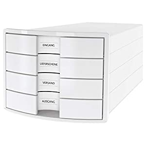 Han Impuls Drawer Box DIN A4/C4 4 Closed Drawers White