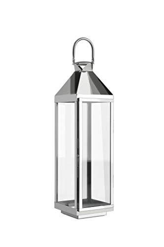 home + Lanterne en acier inoxydable - anti-corrosion, résistant aux intempéries - Différentes tailles disponibles (pointe) - Groß (70cm)